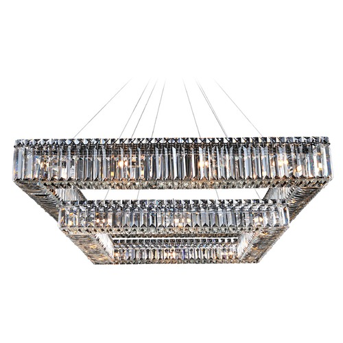 Allegri Lighting Quadro 35in Square 2-Tier Pendant 11781-010-FR001