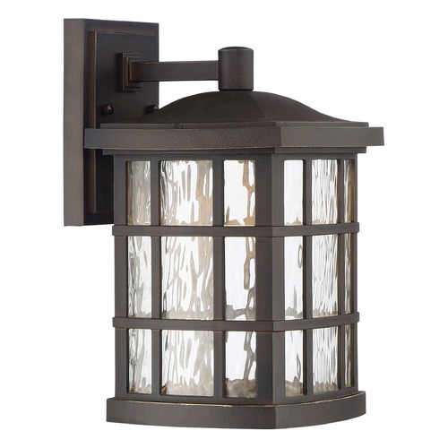 Quoizel Lighting Quoizel Lighting Stonington LED Palladian Bronze Outdoor Wall Light SNNL8408PN