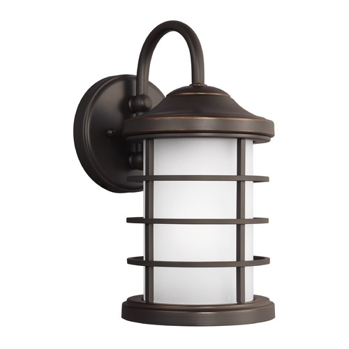 Sea Gull Lighting Sea Gull Sauganash Antique Bronze Outdoor Wall Light 8524451-71