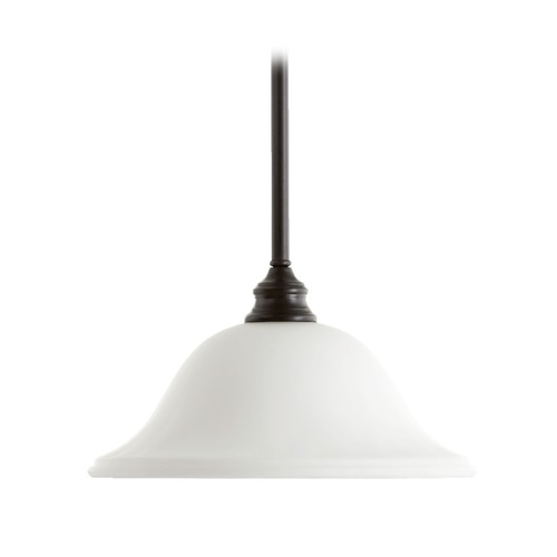Quorum Lighting Quorum Lighting Bryant Oiled Bronze Pendant Light with Bowl / Dome Shade 654-186