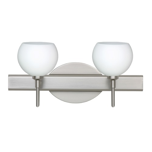 Besa Lighting Besa Lighting Palla Satin Nickel LED Bathroom Light 2SW-565807-LED-SN