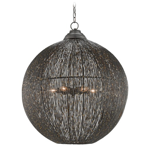 Currey and Company Lighting Currey and Company Eduardo Natural Iron / Brass Pendant Light 9000-0016
