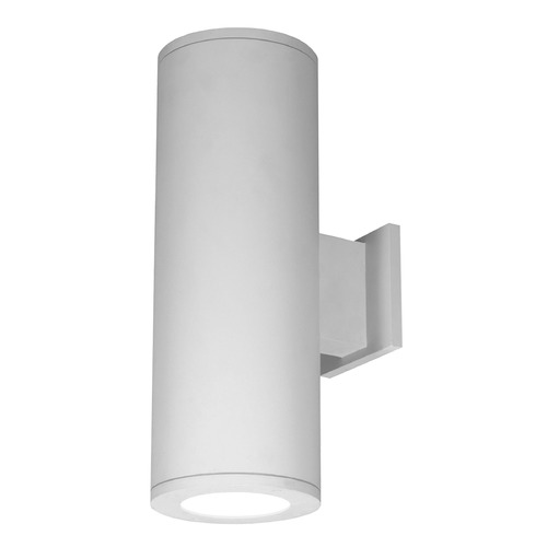 WAC Lighting 8-Inch White LED Tube Architectural Up and Down Wall Light 2700K 5720LM DS-WD08-S27S-WT