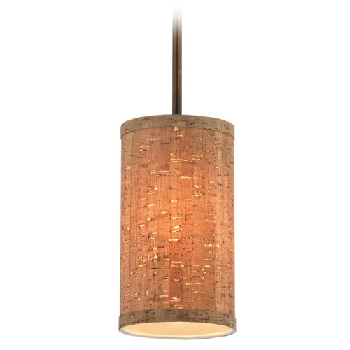 Design Classics Lighting Milo Slim Remington Bronze Mini-Pendant Light with Cylindrical Shade 6542-604 SH9674