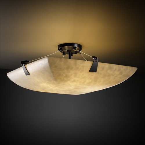 Justice Design Group Justice Design Group Clouds Collection Semi-Flushmount Light CLD-9637-25-MBLK