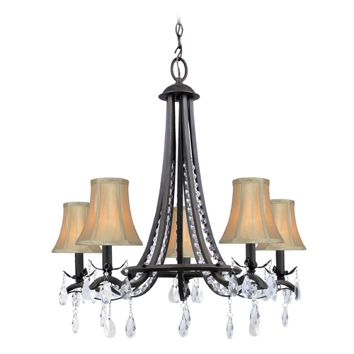 Lite Source Lighting Lite Source Lighting Macy Dark Bronze Crystal Chandelier C71285