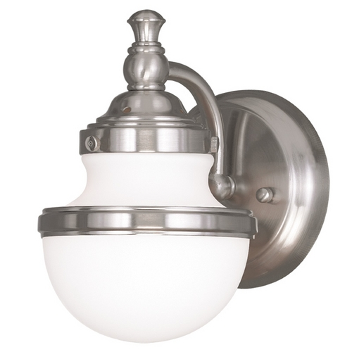 Livex Lighting Livex Lighting Oldwick Brushed Nickel Sconce 5711-91