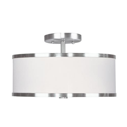 Livex Lighting Livex Lighting Park Ridge Brushed Nickel Semi-Flushmount Light 6367-91