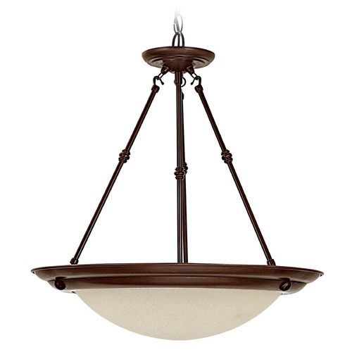 Capital Lighting Capital Lighting Burnished Bronze Pendant Light with Bowl / Dome Shade 2720BB