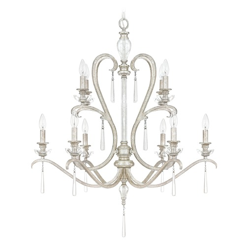 Capital Lighting Capital Lighting Celine Antique Silver Crystal Chandelier 4788AS-000