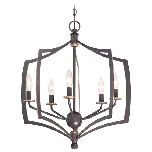 Minka Lavery Minka Middletown Downton Bronze with Gold Highlight Pendant Light 4375-579