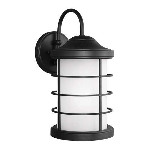 Sea Gull Lighting Sea Gull Sauganash Black Outdoor Wall Light 8624451-12
