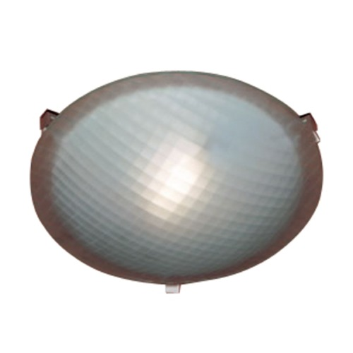 PLC Lighting Modern Flushmount Light with White Glass in Rust Finish 22208 RU