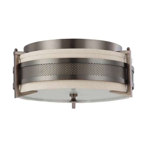 Nuvo Lighting Modern Flushmount Lights in Hazel Bronze Finish 60/4436