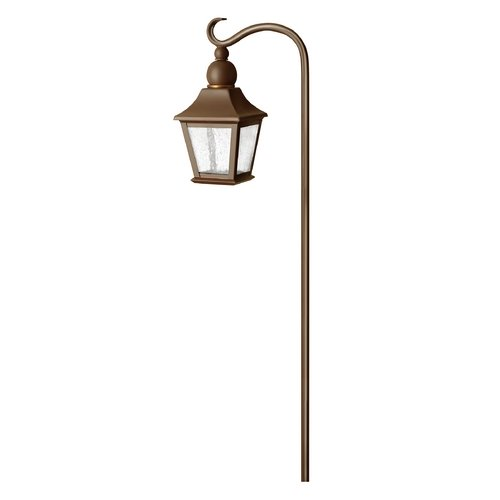 Hinkley Lighting Low Voltage Seeded Glass Path Light Copper Bronze Hinkley Lighting 1555CB