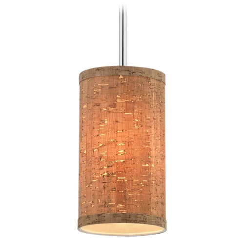 Design Classics Lighting Milo Slim Chrome Mini-Pendant Light with Cylindrical Shade 6542-26 SH9674