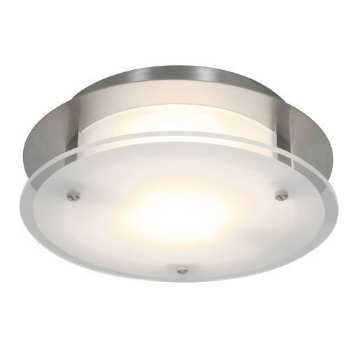 Access Lighting Access Lighting Visionround Brushed Steel Flushmount Light 50036-BS/FST