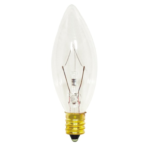 Satco Lighting Incandescent Flame Light Bulb Candelabra Base Dimmable S3347
