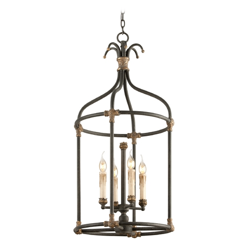 Troy Lighting Pendant Light in Distressed Black / Antique Gold Finish F3526