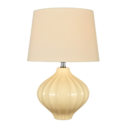 Lite Source Lighting Lite Source Lighting Gordana Ivory Table Lamp with Drum Shade LS-22314IVY