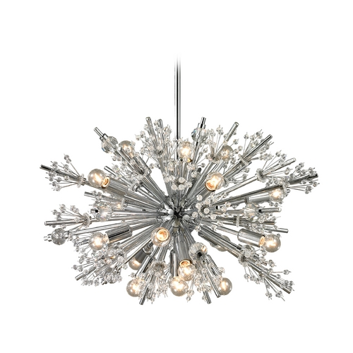 Elk Lighting Modern Pendant Light in Polished Chrome Finish 11751/19