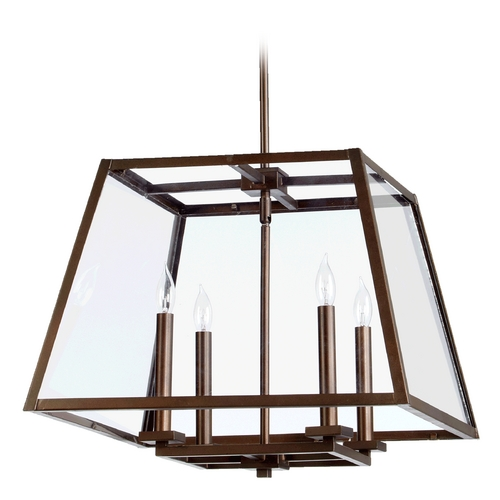 Quorum Lighting Quorum Lighting Kaufmann Oiled Bronze Pendant Light 6104-4-86