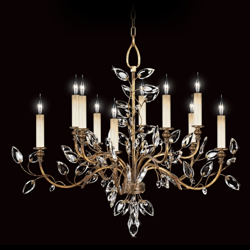 Fine Art Lamps Fine Art Lamps Crystal Laurel Gold Leaf Crystal Chandelier 775940ST