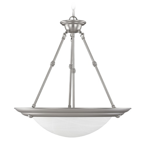 Capital Lighting Capital Lighting Matte Nickel Pendant Light with Bowl / Dome Shade 2720MN