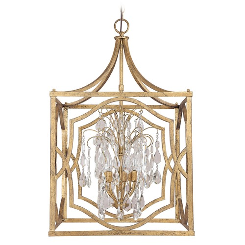 Capital Lighting Capital Lighting Blakely Antique Gold Pendant Light 9483AG-CR