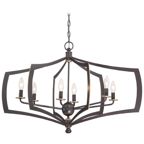Minka Lavery Minka Middletown Downton Bronze with Gold Highlight Pendant Light 4376-579