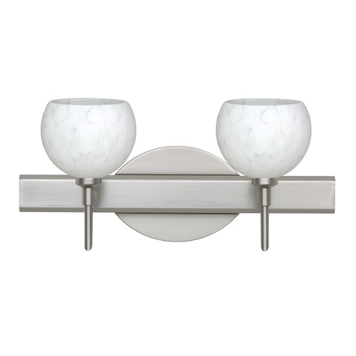 Besa Lighting Besa Lighting Palla Satin Nickel LED Bathroom Light 2SW-565819-LED-SN