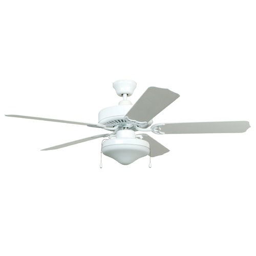 Craftmade Lighting Craftmade 52-Inch White Outdoor Ceiling Fan with Light END52WW5C