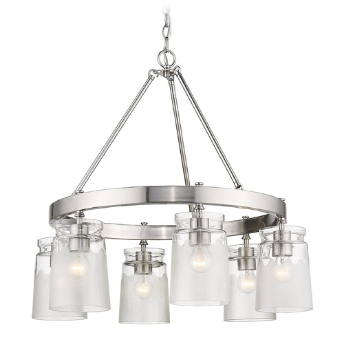 Golden Lighting Golden Lighting Travers Pewter Chandelier 1405-6PW-CAG