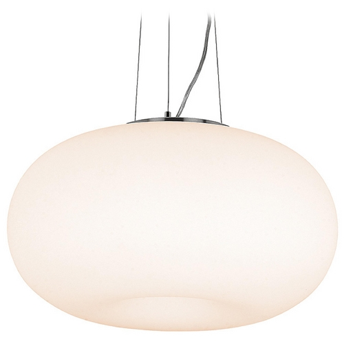 Access Lighting Modern Mini-Pendant Light with White Glass 50944-BS/OPL