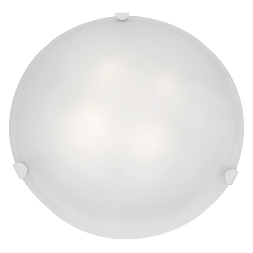 Access Lighting Modern Flushmount Light with White Glass in White Finish 23021-WH/WH