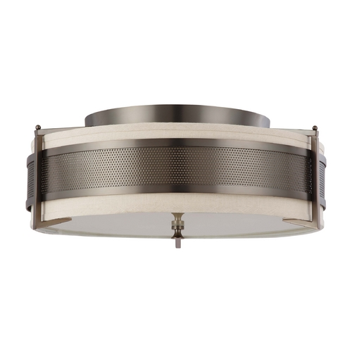 Nuvo Lighting Modern Flushmount Lights in Hazel Bronze Finish 60/4437