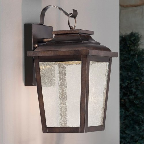 Minka Lavery Seeded Glass LED Outdoor Wall Light Bronze Minka Lavery 72171-189-L