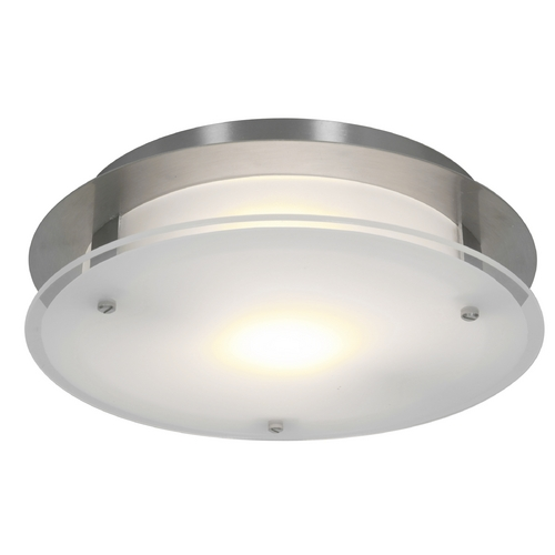 Access Lighting Access Lighting Visionround Brushed Steel Flushmount Light 50037-BS/FST