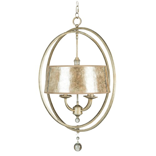 Jeremiah Lighting Jeremiah Windsor Athenian Obol Pendant Light with Drum Shade 35534-AO