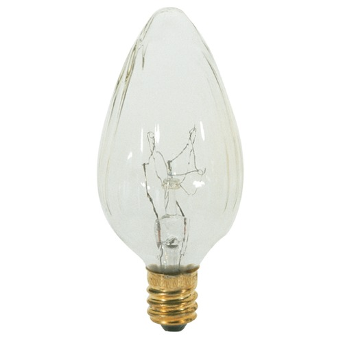 Satco Lighting Incandescent F10 Light Bulb Candelabra Base 120V Dimmable by Satco S3360
