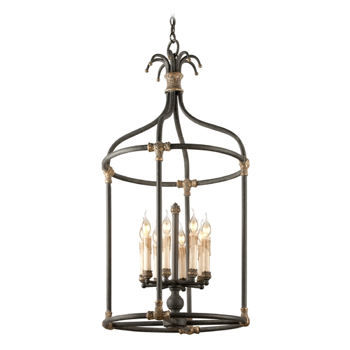 Troy Lighting Pendant Light in Distressed Black / Antique Gold Finish F3527