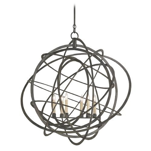 Currey and Company Lighting Currey and Company Lighting Genesis Black Iron Chandelier 9488