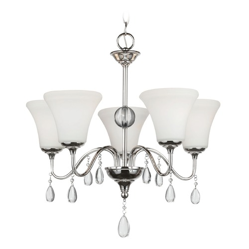 Sea Gull Lighting Sea Gull Lighting West Town Chrome Chandelier 3210505BLE-05