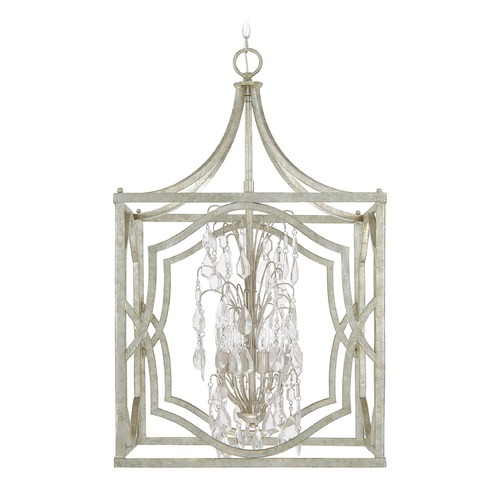 Capital Lighting Capital Lighting Blakely Antique Silver Pendant Light 9483AS-CR