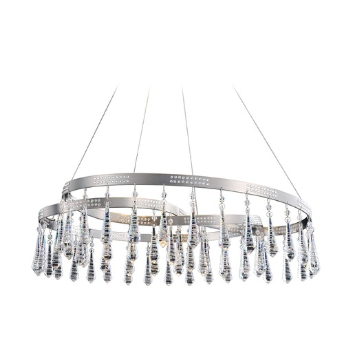 Allegri Lighting Ravina 4 Light Flush Mount/Convertible w/ Swarovski Elements Crystal 11803-030-SE001