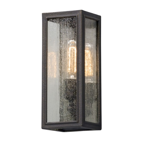 Troy Lighting Seeded Glass LED Outdoor Wall Light Bronze Troy Lighting BL5101