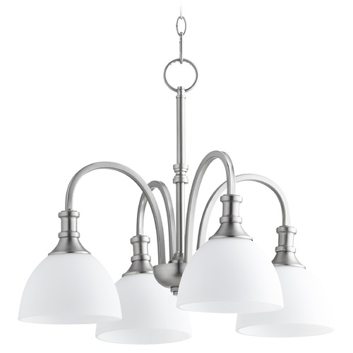 Quorum Lighting Quorum Lighting Richmond Satin Nickel Chandelier 6211-4-65
