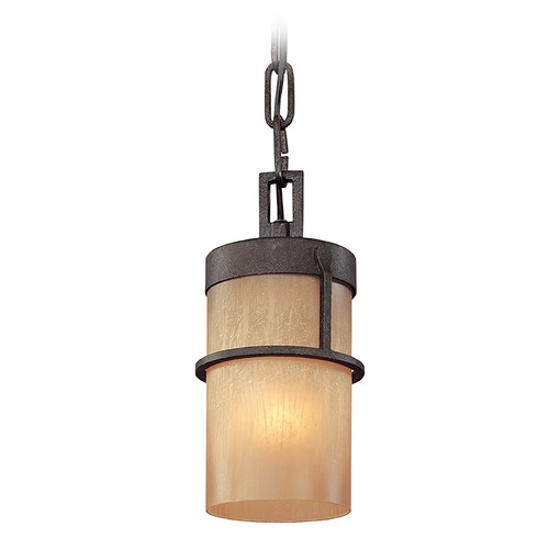 Troy Lighting Mini-Pendant Light with Beige / Cream Glass F1847BB