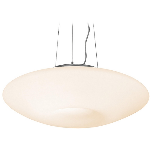 Access Lighting Modern Mini-Pendant Light with White Glass 50955-BS/OPL