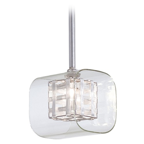 George Kovacs Lighting Modern Mini-Pendant Light with Clear Glass P801-077